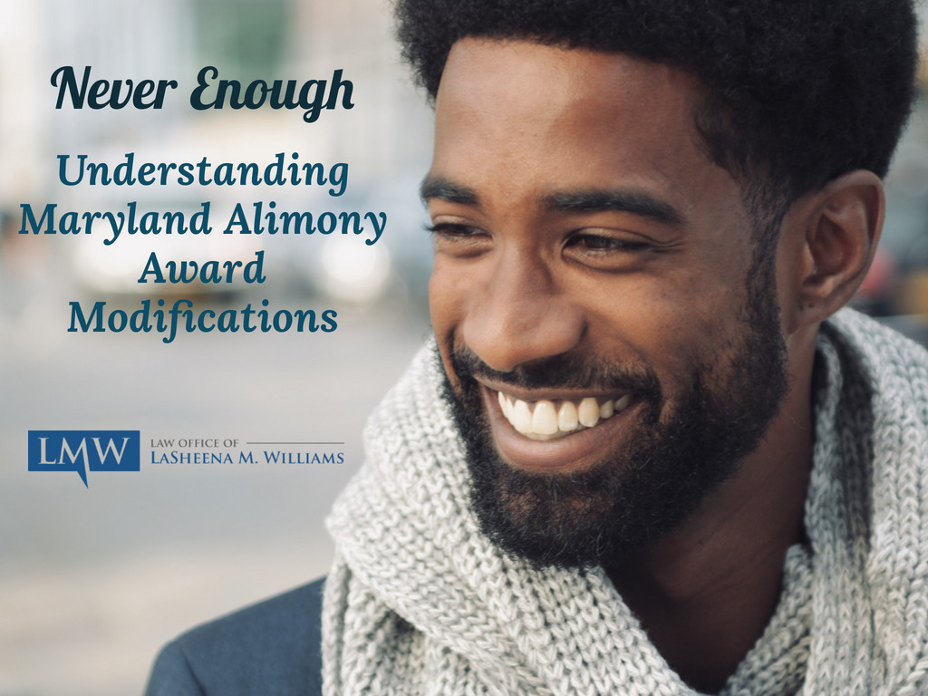 Maryland Alimony Award Modifications