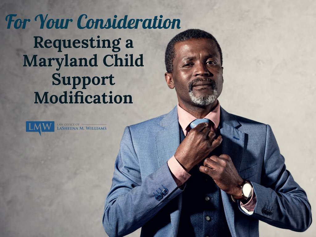 Maryland child support modification